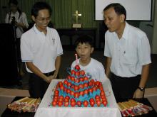 """Blowing the """"Birthday Cake"""""""