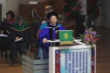 院长邱和平博士致欢迎和报告 Welcome and Announcements by Principal Rev. Dr. Khoo Ho Peng